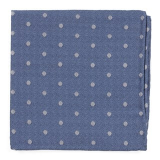 Dotted Hitch Light Blue Pocket Square