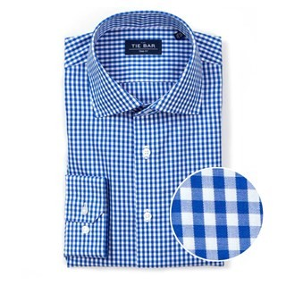 Gingham Classic Blue Non-Iron Dress Shirt
