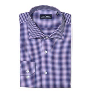 Two Tone Gingham (Fs) Pink Non-Iron Dress Shirt