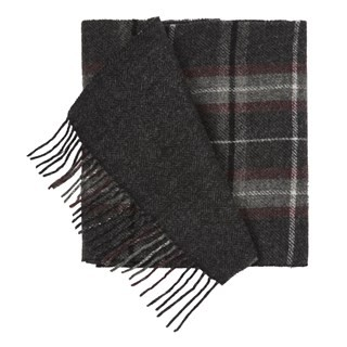 Edgewater Plaid Charcoal Scarf