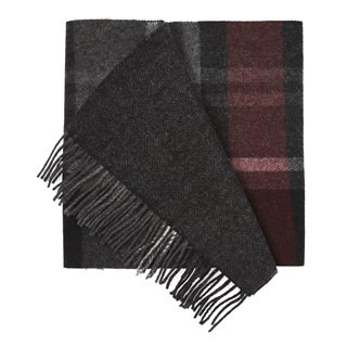 Bridgeport Plaid Burgundy Scarf