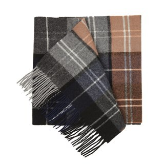 Portage Park Plaid Burnt Orange Scarf