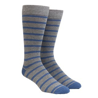 Trad Stripe Grey Dress Socks