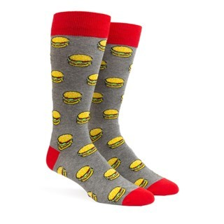 Washington Dc Hamburger Charcoal Dress Socks