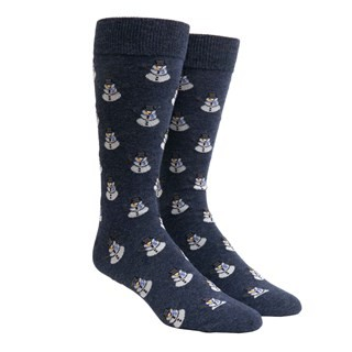 Snowman Navy Dress Socks