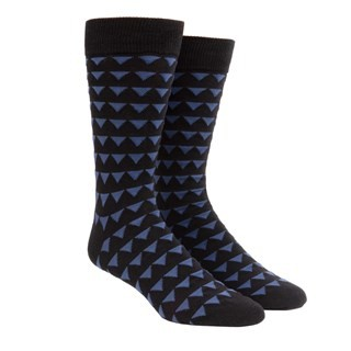 Triangle Geo Black Dress Socks