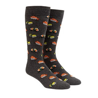 Sushi Charcoal Dress Socks