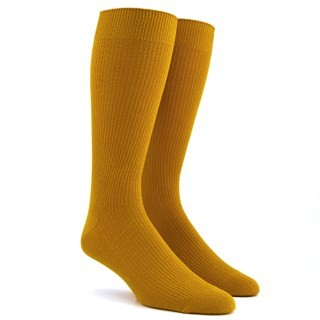 Ribbed Mustard Dress Socks