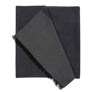 Noble Square Chevron Charcoal Scarf