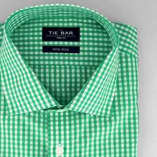 Gingham Green Non-Iron Dress Shirt