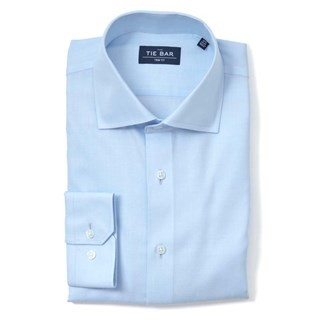 Herringbone Light Blue Non-Iron Dress Shirt