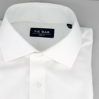 Herringbone - French Cuff White Non-Iron Dress Shirt