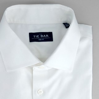 Pinpoint Solid White Non-Iron Dress Shirt