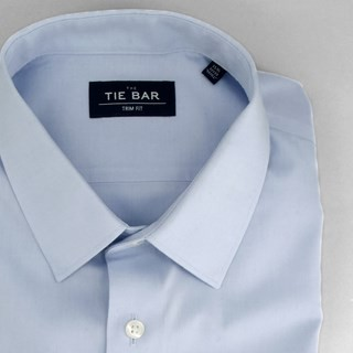 Pinpoint Solid - Point Collar Light Blue Non-Iron Dress Shirt
