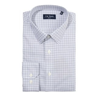 Twill Tattersall Blue Non-Iron Dress Shirt