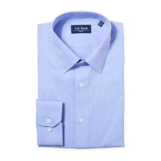Multi Dot Dobby Blue Non-Iron Dress Shirt