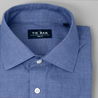 Polished Chambray Blue Dress Shirt
