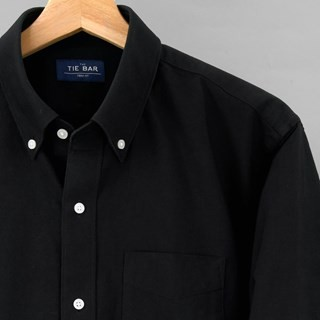 The Modern-Fit Oxford Black Casual Shirt