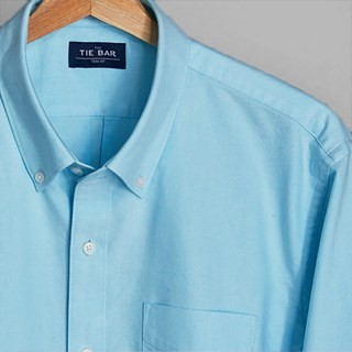 The Modern-Fit Oxford Aqua Casual Shirt
