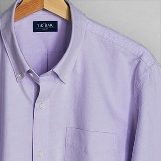 The Modern-Fit Oxford Lavender Casual Shirt