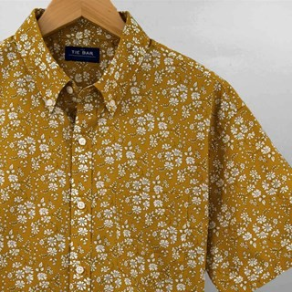 Liberty Capel Floral Mustard Short Sleeve Shirt