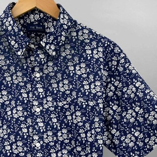 Liberty Capel Floral Navy Short Sleeve Shirt