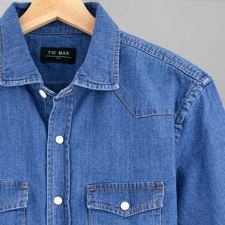Western Denim Blue Casual Shirt