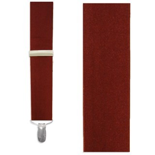 Solid Satin Burgundy Suspender