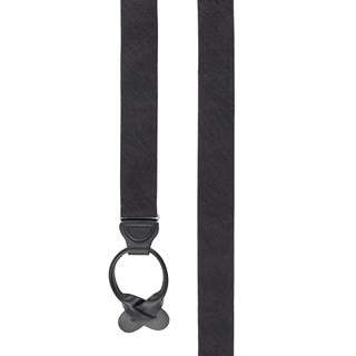 Festival Textured Solid Black Suspender