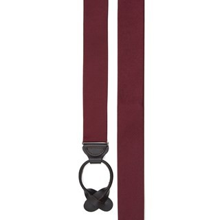 Grosgrain Solid Burgundy Suspender