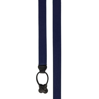 Grosgrain Solid Navy Suspender