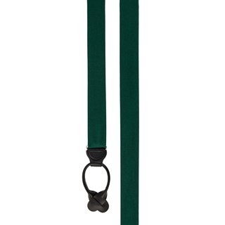 Grosgrain Solid Hunter Green Suspender