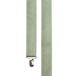 Grosgrain Solid Sage Green Suspender