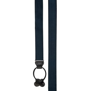 Solid Satin Navy Suspender