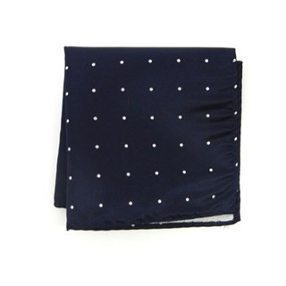 Satin Dot Classic Navy Pocket Square