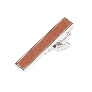 Leather Brown Tie Bar