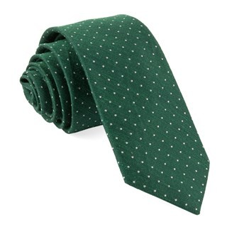 Bhldn Destination Dots Hunter Green Tie