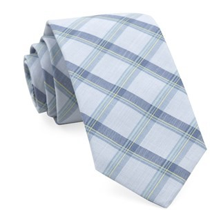Brewerytown Plaid Light Blue Tie
