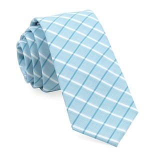 Brookline Plaid Teal Tie
