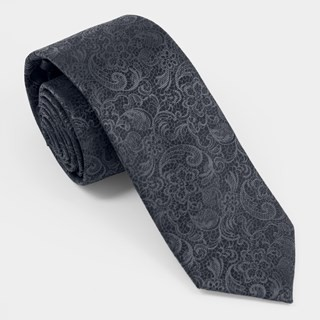 Ceremony Paisley Charcoal Tie