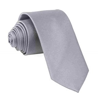 Grosgrain Solid Grey Tie
