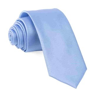 Grosgrain Solid Light Blue Tie
