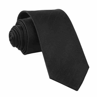 Herringbone Vow Black Tie