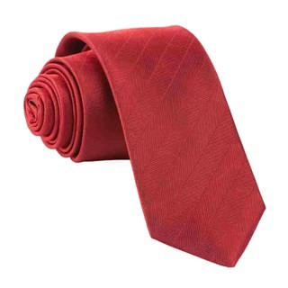 Herringbone Vow Red Tie