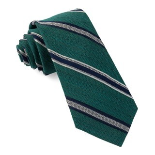 Hutton Stripe Teal Tie