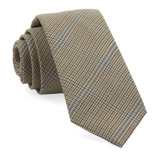 Linwood Plaid Camel Tie