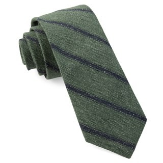 North Border Stripe Hunter Green Tie