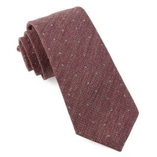 Redwood Dot Raspberry Tie