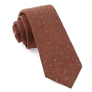 Redwood Dot Burnt Orange Tie