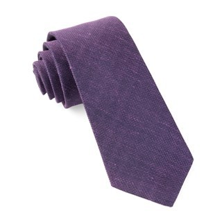 Smith Solid Purple Tie